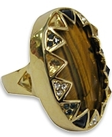 House Of Harlow 1960 - Tiger Eye Ring **PRE ORDER ITEM**
