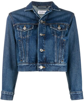 Balenciaga Cropped Denim Jacket