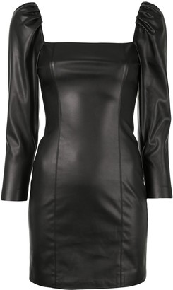 Alice + Olivia Frances faux leather dress