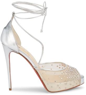 Christian Louboutin Maia Labella Crystal-Embellished Platform Sandals