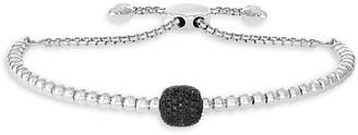 Effy Sterling Silver & Black Diamond Slider Bracelet
