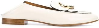 Chloé logo fold back loafers