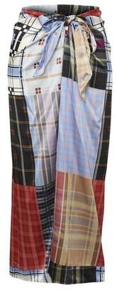 Ganni Long silk skirt