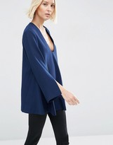 Asos Tunic Top With Square V-Neck