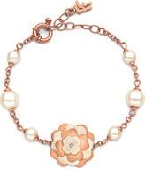 Folli Follie Santorini Flower rose gold-plated and mother-of-pearl bracelet