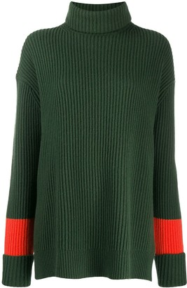 Chinti and Parker Contrast Stripe Ribbed Jumper
