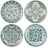 Veracruz Blue Melamine Salad Plates, Set of 4
