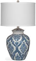 Bassett Mirror Camden Tabke Lamp, Blue/White