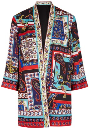 Alice + Olivia Koko Printed Satin Jacket