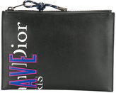 Christian Dior logo print flat clutch