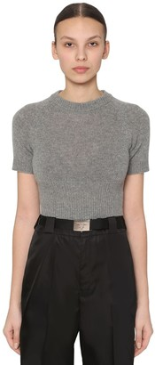 Prada CROPPED CASHMERE KNIT TOP