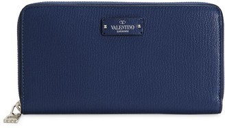 Valentino Leather Zip Wallet