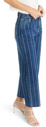 ÉTICA Devon Striped High Waist Wide Leg Jeans