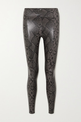 Commando Snake-effect Faux Leather Leggings - Snake print