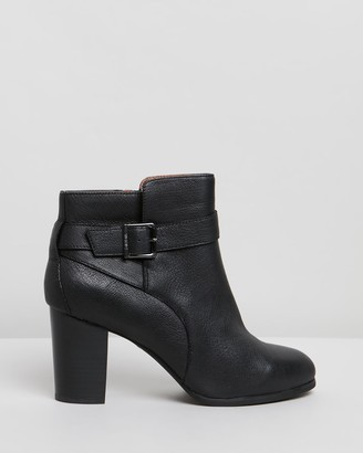 Vionic Women's Black Heeled Boots - Alison Ankle Boots - Size One Size, 8 at The Iconic