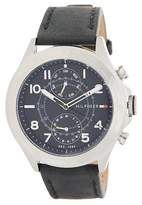 Tommy Hilfiger Men's Hudson Chronograph Leather Strap Watch, 44mm