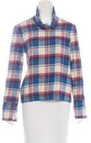 Creatures of Comfort Plaid Long Sleeve Top