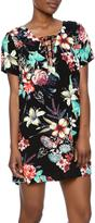 Lucy-Love Lucy Love Floral Lace Up Dress