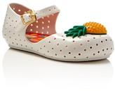Mini Melissa Girls' Furadinha Pineapple Mary Jane Flats - Walker, Toddler