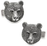 Cufflinks Inc. Men's Sterling Bear Head Cufflinks