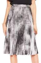 Vince Camuto Metallic Suede Skirt