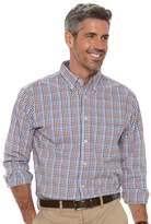Haggar Men's Classic-Fit Plaid Stretch Poplin Button-Down Shirt