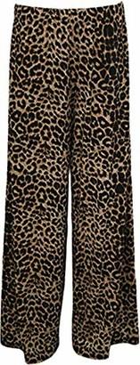 Espania Trading Plus Women's Wide Leg Plazzo Trouser Pants Ladies Flared Paisley Print Stretch