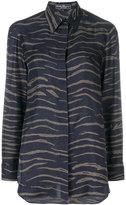 Salvatore Ferragamo animal print shirt