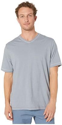 Tommy Bahama Wave Tropic V-Neck Tee (Iced Slate) Men's Clothing
