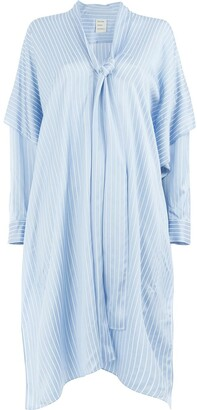 Maison Rabih Kayrouz Flared Striped Dress