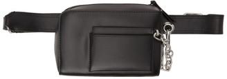 Dries Van Noten Black Leather Belt Pouch