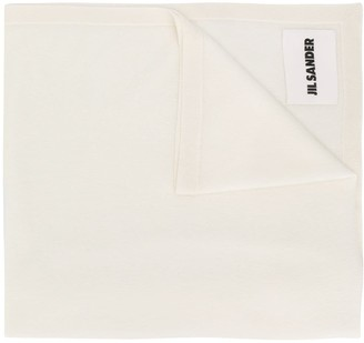Jil Sander Logo Patch Knitted Scarf