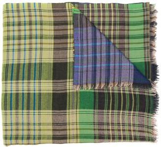 Etro frayed-hem plaid scarf