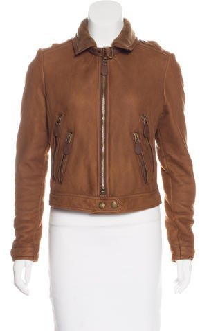 Burberry Leather Shearling Jacket