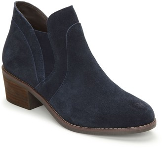 Me Too Pull-On Suede Block Heel Booties - Zantos14