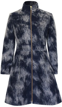Philosofée By Glaucia Stanganelli Mohair Wool Coat Navy