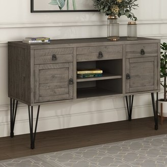"""17 Stories Halies 49.9"""" Solid Wood Console Table"""