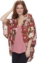 Miss Chievous Juniors' Floral Poncho Top