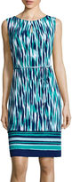 Liz Claiborne Sleeveless Belted Shift Dress