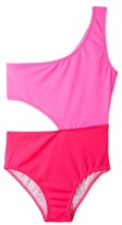Stella Cove Toddler Girl's Two-Tone Cutout One-Piece Swimsuit
