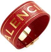 Balenciaga Women's Embossed Logo Leather Bracelet