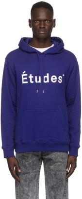Études Blue Klein Logo Hoodie