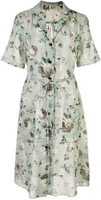R 13 floral short-sleeve shirt dress