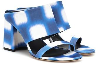 Dries Van Noten Printed satin sandals