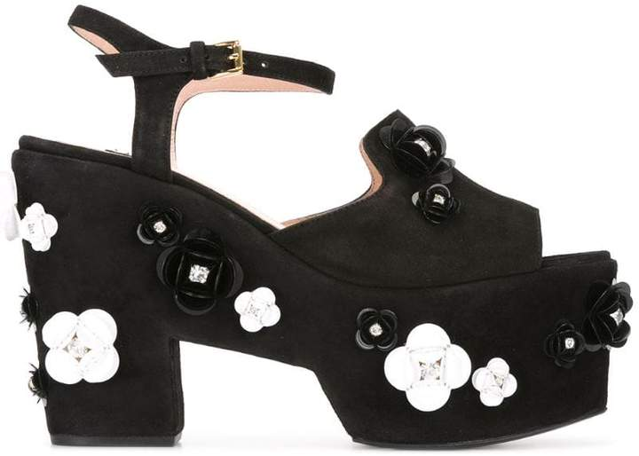 Moschino embellished platform sandals