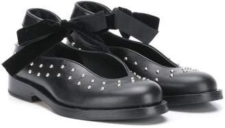 Gallucci Kids stud-embellished shoes