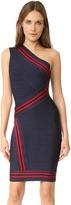 Herve Leger Kayla One Shoulder Dress