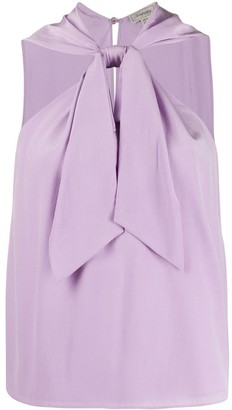 Temperley London Silk Sleeveless Halterneck Top