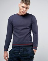 Brave Soul Contrast Ribbed Sweat Sweater