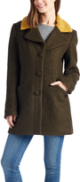 Laundry by Shelli Segal Olive & Yellow Color Block Wool-Blend Jacket